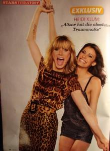 Alisar Ailabouni im in Magazin mit Heidi Klum
