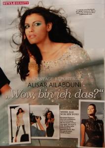 Alisar Ailabouni im in Magazin