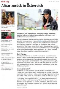Alisar Ailabouni zurück in Österreich - Österreich -  oe24.at - 15.06.2010