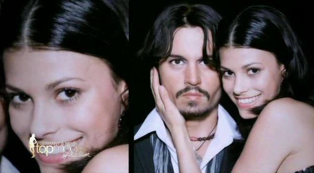 Alisar Ailabouni bei GNTM Folge 2 mit Johnny Depp