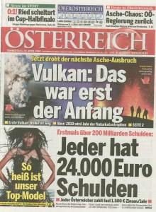 Alisar Ailabouni - Titelseite Oesterreich vom 22.4.2010