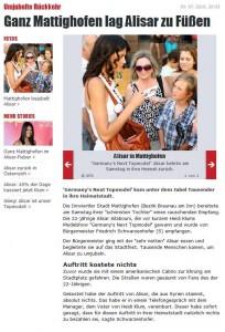 Ganz Mattighofen lag Alisar zu Füßen - oe24.at - 04.07.2010