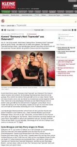 Kommt Germany's Next Topmodel aus Österreich? (Kleine Zeitung online vom 04.06.2010)